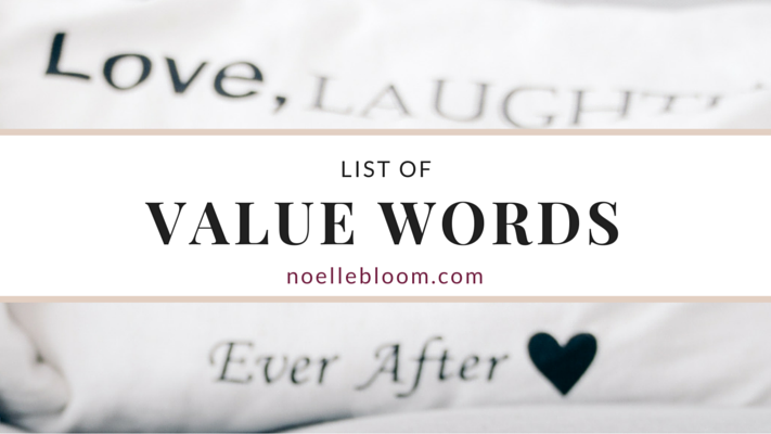 List of Value Words